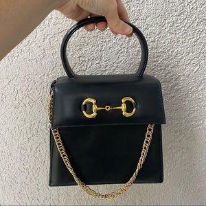Horsebit Top Handle Vintage Bag